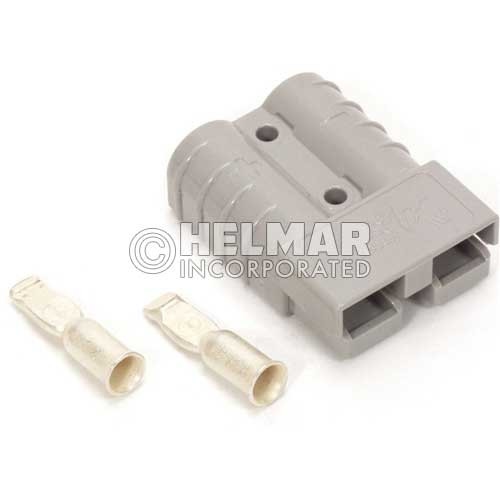 6340G2 Original Anderson SBX Connectors, Housing with Springs, Two Contacts and Auxiliary Contacs 350 AMP, 3/0 Gray