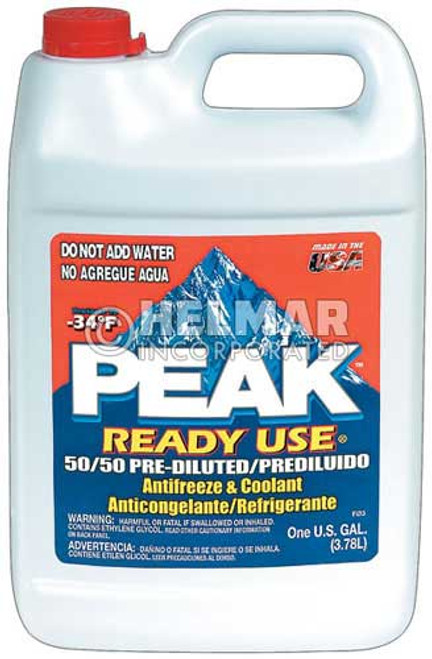 AF-2140 Peak Prediluted Antifreeze and Coolant 1 gal, 50/50 premix