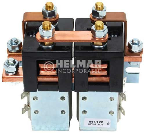 CTR-12-115 12 Volt 180 Amp Contactor, Double Pole - Double Throw - Intermittent Coil - Blow Outs