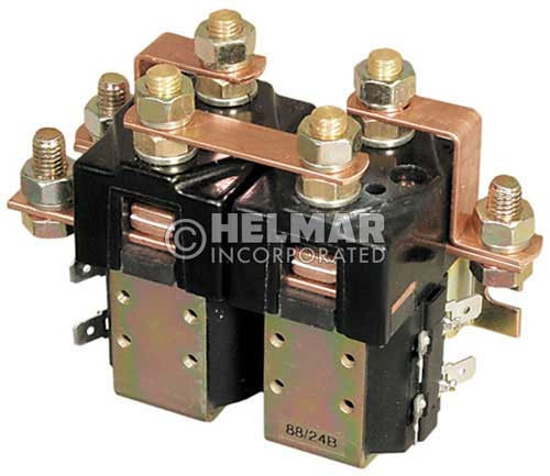 CTR-24-248 24 Volt 80 Amp Contactor, Double Pole - Double Throw - Blow Outs - Mounting Brackets