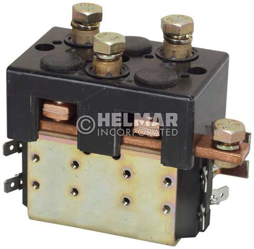 CTR-24-283 24 Volt 100 Amp Contactor, Double Pole - Double Throw - Continuous Coil - Mounting Brackets