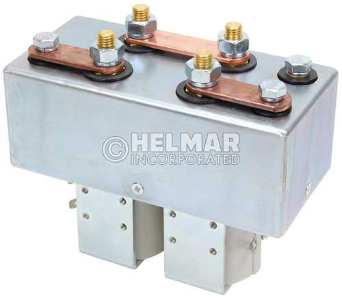 CTR-24-292 24 Volt 250 Amp Contactor, Double Pole - Double Throw - Intermittent Coil - Blow Outs