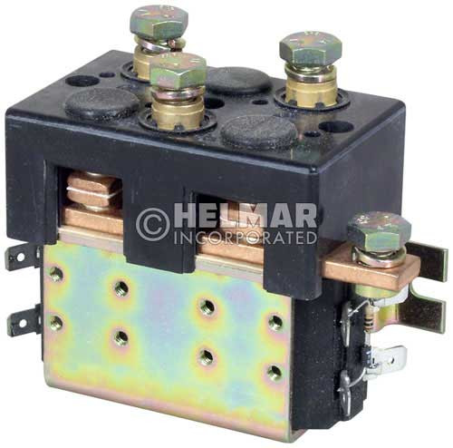 CTR-24-280 24 Volt 80 Amp Contactor, Double Pole - Double Throw - Intermittent Coil - Mounting Brackets