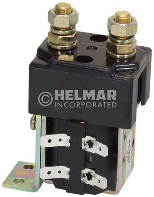 CTR-24-278 24 Volt 80 Amp Contactor, Single Pole - Single Throw - Intermittent Coil - Mounting Brackets