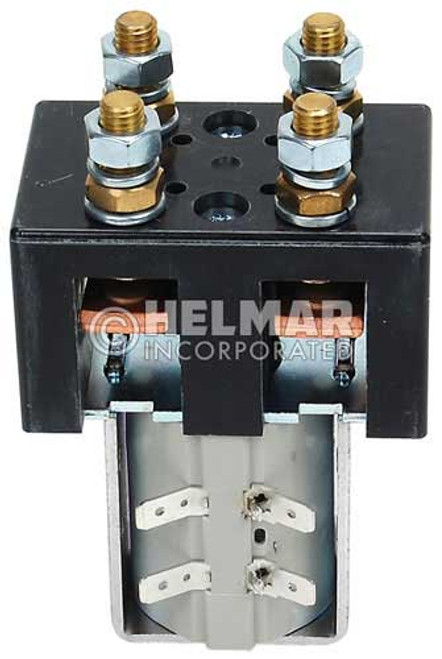 CTR-24-304 24 Volt 100 Amp Contactor, Double Pole - Single Throw - Intermittent Coil - Blow Outs