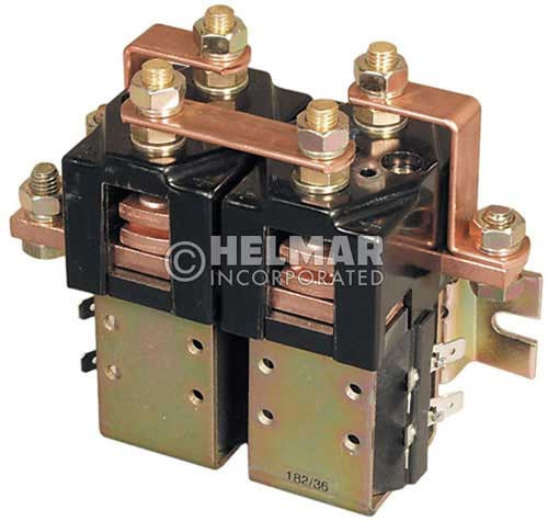 CTR-36-303 36 Volt 180 Amp Contactor, Double Pole - Double Throw - Intermittent Coil - Blow Outs - Mounting Brackets