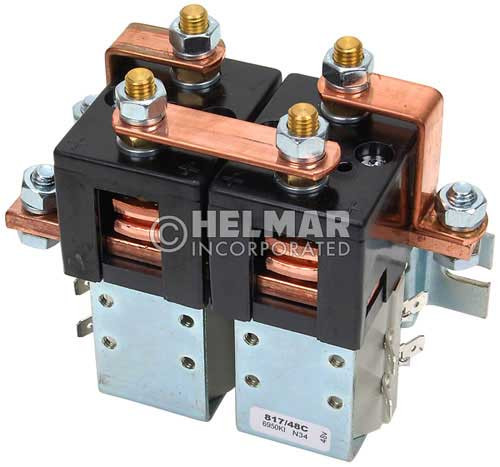 CTR-36-336 36 Volt 300 Amp Contactor, Double Pole - Double Throw - Continuous Coil - Mounting Brackets
