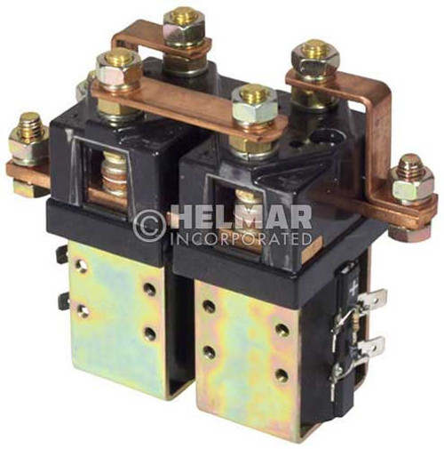 CTR-36-312 36/48 Volt 100 Amp Contactor, Double Pole - Double Throw - Continuous Coil - Blow Outs