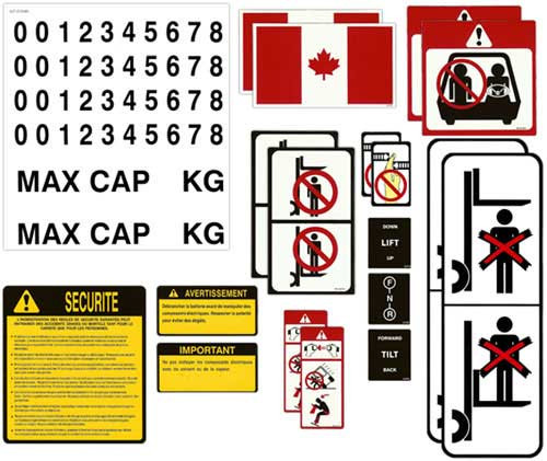DECAL-KIT-FRENCH Universal Sticker