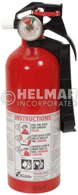 "FE-10 Fire Extinguisher 10.95"" H X 3.25"" Diameter, 2lbs."