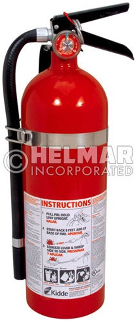 "FE-40 Fire Extinguisher 16.07"" H X 4.5"" Diameter, 5lbs."