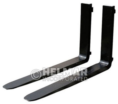 FORK-4124 Class II Full Tapered Polished Liftruck Forks 1 3/4 x 5 x 72, 172 Lbs.