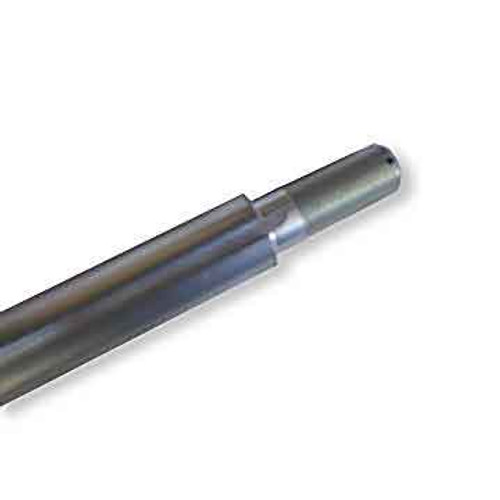 """1"""" Solid 40"""" Deluxe Flexpruf Steel Axle, Stepped, Threaded Ends"""