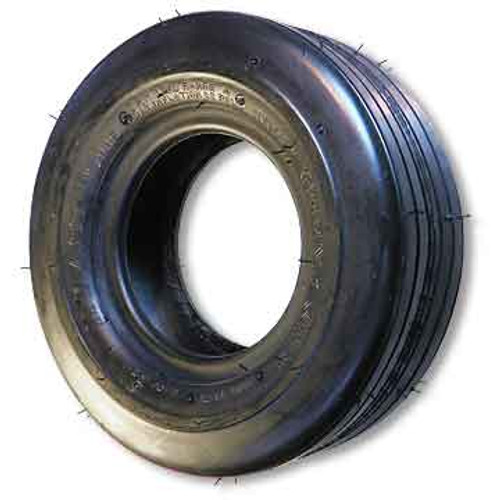 """11 X 4.00 x 5 Ribbed Tire, 8 Ply, 3.2"""" Wide, 10.8"""" OD, Flat Profile"""