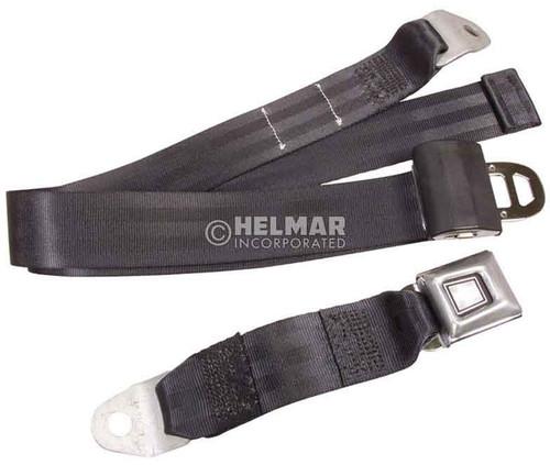 """LB-74-BLACK 74"""" Black Lap Seat Belt"""