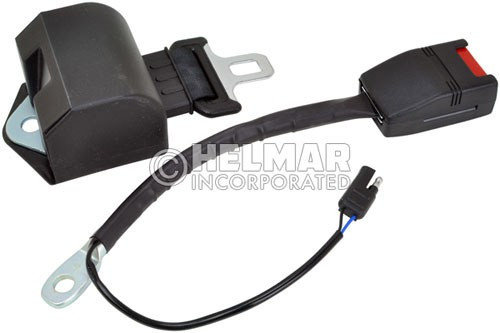 RB-BLACK-72-ELE Normally Open Electric Retractable Seat Belt