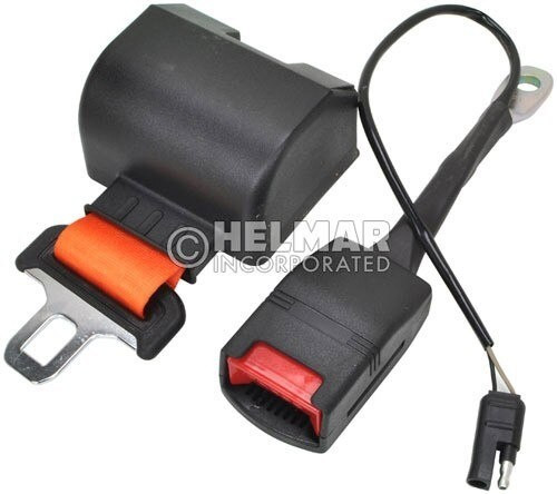 RB-ORANGE-NC-60-ELE Normally Closed Electric Retractable Seat Belt