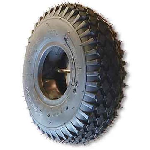 "410 x 350 X 6 Studded Tire, 4 Ply, 3.5"" Wide, 12.5"" OD"