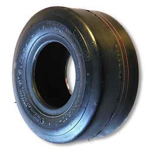 "11 X 7.10 X 5 Slick Tire, 4 Ply, Tubeless, 8.0"" Wide, 10.5"" OD"