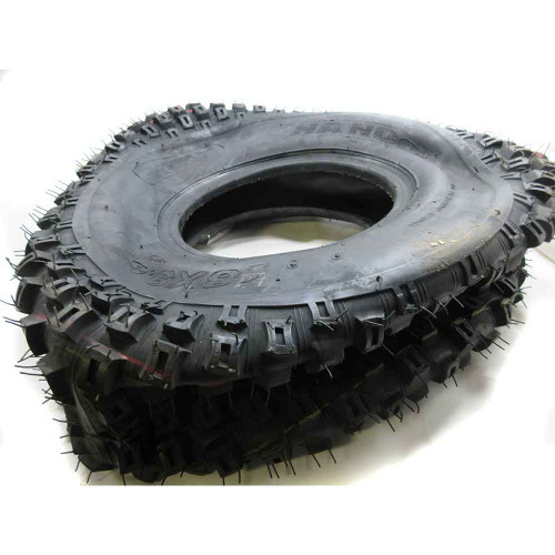 """18 X 9.50 X 8 Knobby Tire, Tubeless, 2 Ply, 8.5"""" Wide, 17.3"""" OD"""