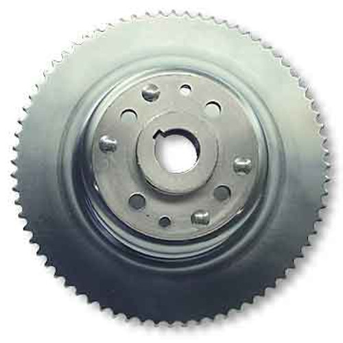 """72 Tooth 35 Chain  4-1/2"""" Sprocket Drum Riveted to Mini-Hub 1-1/4"""" Bore"""