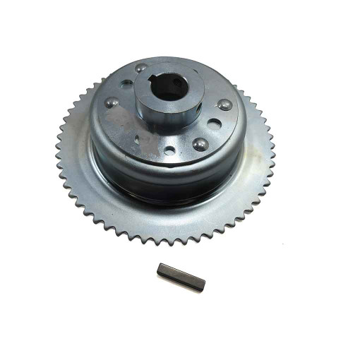 """60 Tooth 35 Chain Sprocket 4-1/2"""" Drum Riveted Mini-Hub, 1"""" Bore"""