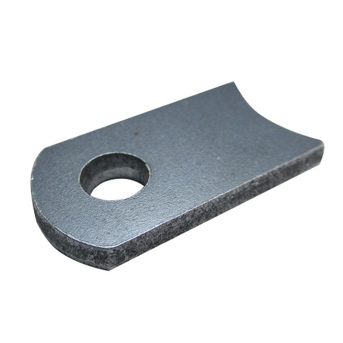 """Control Rod Anchor, Steel, 1-3/8"""" X 3/4"""" X .160"""" (8 Gauge) Thick, 1/4"""" Hole"""