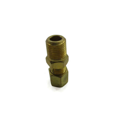 """Male Connector Brass Fitting, 3/16"""" Tube to 1/8"""" N.P.T."""