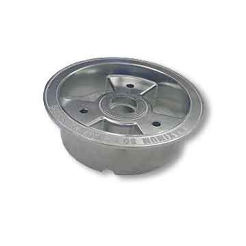 """6"""" AZUSA Tri-Star Wheel, One Half Only, 2"""" Wide For Ball Bearing"""