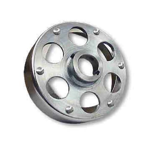 "6"" Brake Drum, Chrome Plated w/ Riveted Uni-Hub, 1-1/4"" Bore"