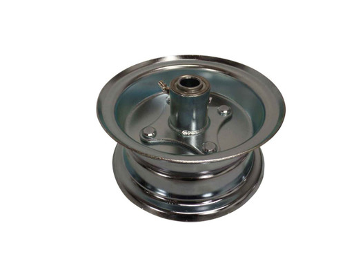 """6"""" Wheel, Steel, Assembly With 3/4"""" BB Hub, Two Piece Rim, 3-3/8"""" Wide"""
