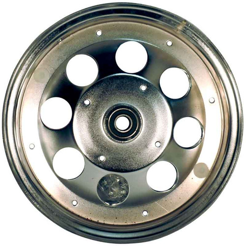 """10"""" Steel Wheel, Chrome Plated, With 5/8"""" ID Precision Ball Bearings"""
