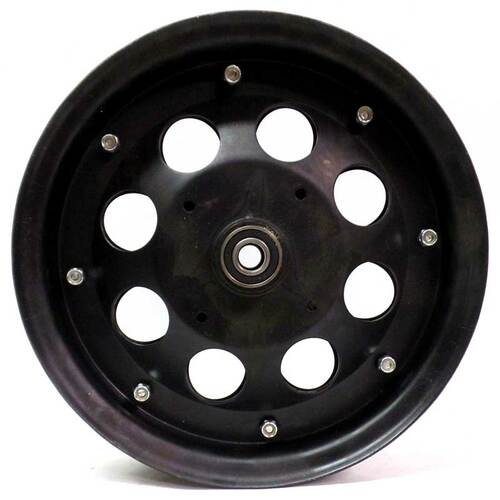 "10"" Steel Wheel, Black Oxide With 5/8"" ID Precision Bearings"