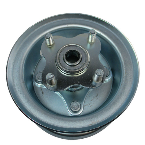 """5"""" Wheel, Steel, Assembly With 5/8"""" BB Flanged Hub With Bolts, 4 1/4"""" Wide"""