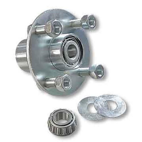 """Adapter Hub, Zinc Plated Steel, With 3/4"""" ID Tapered Roller Bearing"""