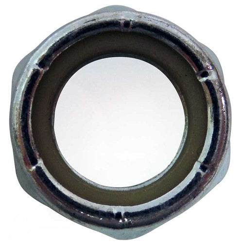 Locknut/Axle Nut, 3/4-16 Thin, Nylon Insert, Zinc Plated