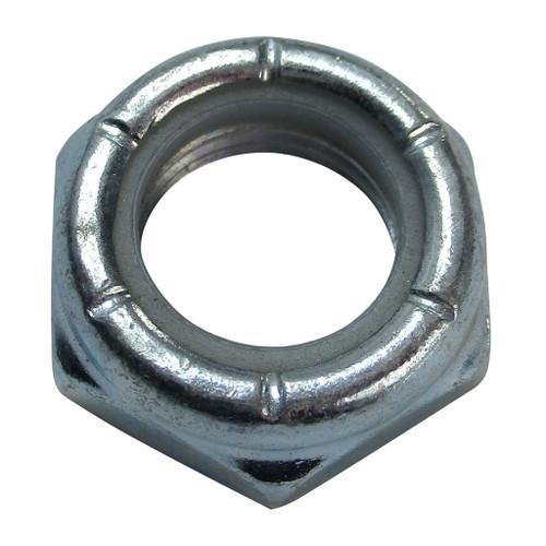 Locknut/Axle Nut, 1/2-20 Thin, Nylon Insert, Zinc Plated