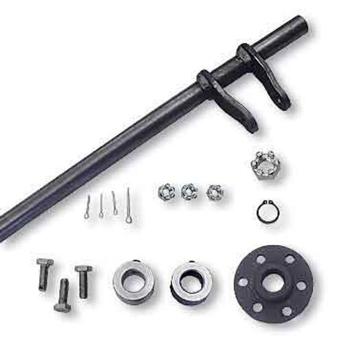 "Steering Shaft, 5/8"" OD & Hub Kit, Welded Pitman Arms, 25"" Length"