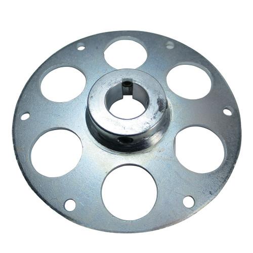 """Uni-Hub, Steel, Zinc-Plated, 1"""" Bore, 1/4"""" Keyway & Set Screws Only"""