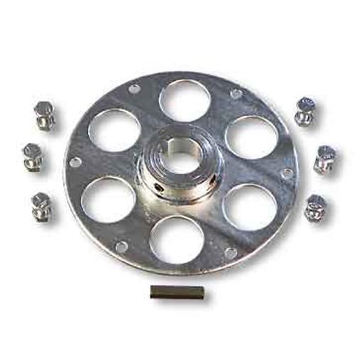 """Uni-Hub, Steel, Zinc Plated, 1-1/4"""" Bore, 1/4"""" Keyway Plus Hardware Kit"""