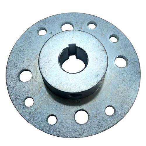 "Mini-Hub, Steel, Zinc Plated, 3/4"" Bore, Set Screws Only"
