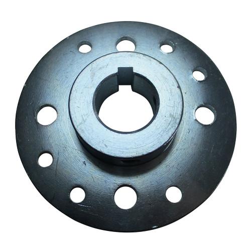 """Mini-Hub, Steel, Zinc-Plated, 1"""" Bore, 1/4"""" Keyway & Set Screws Only"""