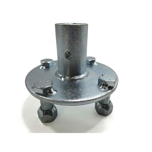 """Adapter Hub, Zinc Plated Steel, 4 Bolt With 1/4"""" Keyway For 3/4"""" Live Axle (No Step)"""