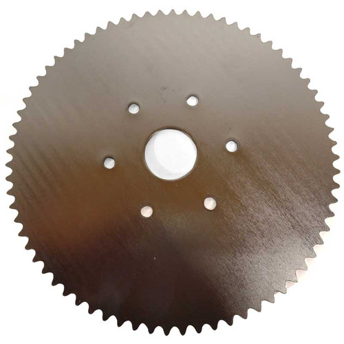 """72 Tooth Steel Sprocket - 35 Chain 1-3/8"""" Bore, 6 Holes, 3.25"""" Bolt Circle Manco"""