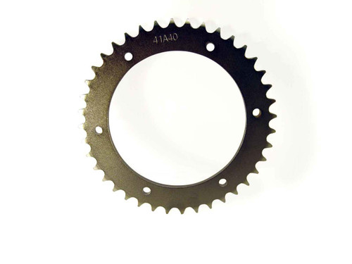 "40 Tooth Steel Sprocket 40 41 420 Chain 4.563"" Bore, 6 Holes, 5.25"" Bolt Circle"