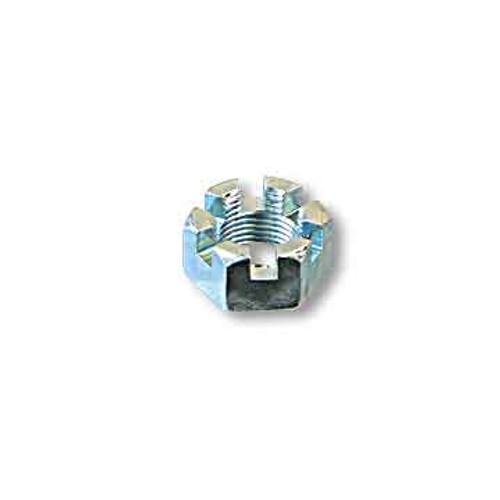 Slotted Hex Nut, 5/16-24, Zinc Plated