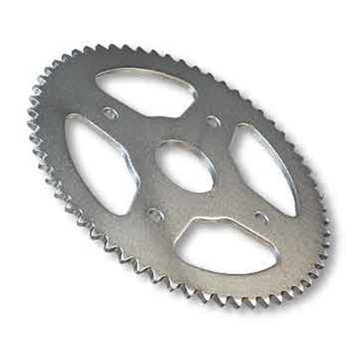"""54 Tooth Steel Sprocket 40 41 420 Chain, 1-1/2"""" Bore, 4 Holes, 4"""" Bolt Circle"""