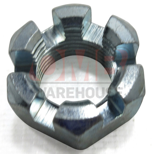 Slotted Hex Nut, 3/4-16, Zinc Plated