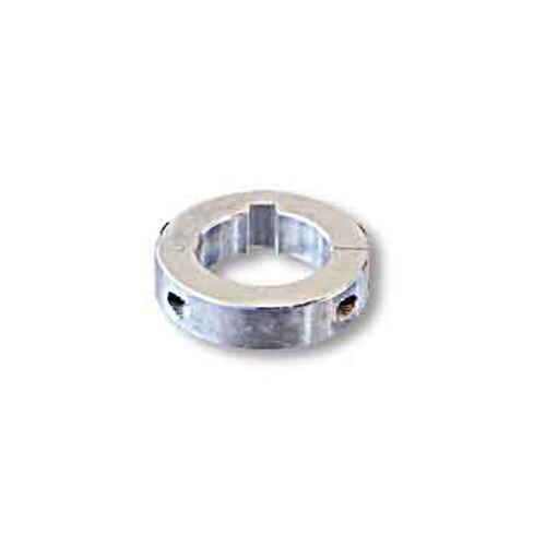 """Collar, Split, Billet Aluminum, 1"""" Id X 1-3/4"""" Od X 1/2"""" Wide, 1/4"""" Keyway"""