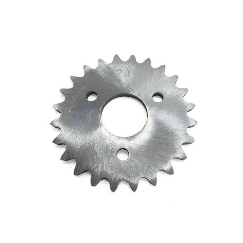 "24 Tooth Sprocket, Aluminum, #35 Chain, P5256 - 1"" Bore, 1.687"" Bolt Circle"